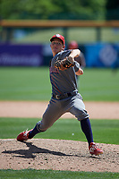 Lehigh Valley IronPigs relief pitcher Seth McGarry (47) during an International League game against the Buffalo Bisons on June 9, 2019 at Sahlen Field in Buffalo, New York.  Lehigh Valley defeated Buffalo 7-6 in 11 innings.  (Mike Janes/Four Seam Images)