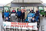 Launching the Mid Kerry Macra na Feirme vintage rally in aid of the Kerry Mental Health Association which will be held in Milltown next Sunday were front Sean Joy and Shane Clifford. Back row: Liam Wharton, Noel Sweeney, John Allman, Kathleen Collins, Pat O'Brien, Niall Flahive, Zeta Ashe