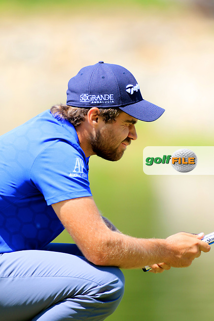Romain Langasque (FRA) in action during the first round of the Volvo China Open played at Topwin Golf &amp; Country Club, Beijing, China 27-30 April 2017.<br /> 27/04/2017.<br /> Picture: Golffile | Phil Inglis<br /> <br /> <br /> All photo usage must carry mandatory copyright credit (&copy; Golffile | Phil Inglis)