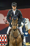 Gregory Wathelet of Belgium riding Lilly Lordanos competes during the Longines Speed Challenge, part of the Longines Masters of Hong Kong on 11 February 2017 at the Asia World Expo in Hong Kong, China. Photo by Victor Fraile / Power Sport Images