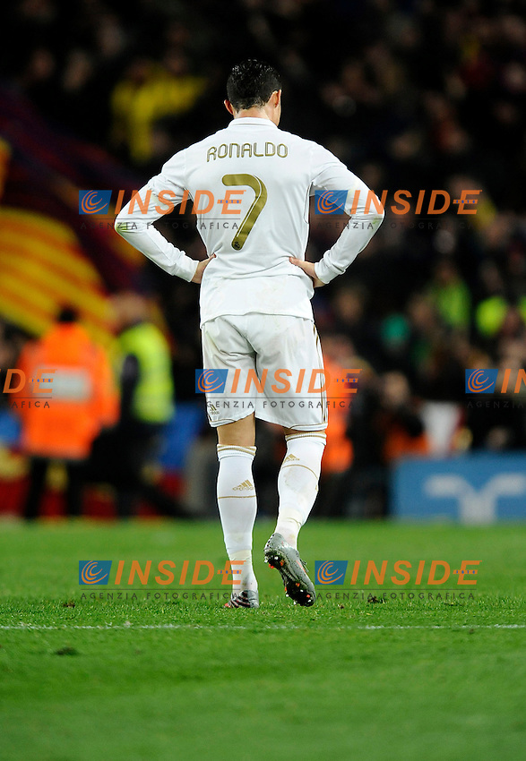 Cristiano Ronaldo (real Madrid) .Barcellona 25/1/2012 Nou Camp.Barcellona Real Madrid 2-2  Coppa del Re .foto Insidefoto / Paco Largo / Panoramic.Italy Only