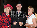 June McCreanor, Dermot and Caroline Caffrey pictured at the barn dance in aid of Ballapousta National School at Oberstown Farm. Photo:Colin Bell/pressphotos.ie