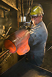 First forging process after heating, Tube Forgings of America, Oregon