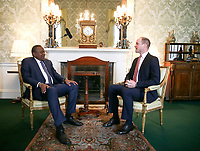 Prince William Private Audience with President of Kenya Uhuru Kenyatta