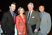 "People for the American Way presented their Defenders of Democracy Awards at a luncheon in Washington, D.C. on May 18, 1998.  (Left to Right) Alec Baldwin, People for the American Way President Carole Shields, United States Senator Edward M. ""Ted"" Kennedy (Democrat of Massachusetts), and Norman Lear..Credit: Ron Sachs / CNP"