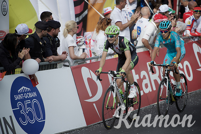 stage 4 winner Davide Formolo (ITA/Cannondale-Garmin) coming in 26th today at the finish<br /> <br /> 2015 Giro<br /> stage 5: La Spezia - Abetone (152km)