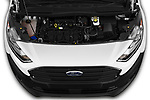 Car Stock 2019 Ford Transit-Connect XL 5 Door Car Van Engine  high angle detail view