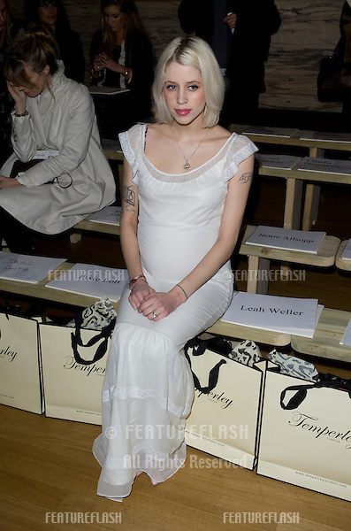 Peaches Geldof at Temperley, on day two of London Fashion Week, 18/02/2012 Picture by: Simon Burchell / Featureflash.