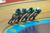 26th January 2020; National Cycling Centre, Manchester, Lancashire, England; HSBC British Cycling Track Championships; Men's team pursuit medallistsSILVER medal TeamInspired, Rhys Britton, Alfred George, Ethan Vernon, Sam Watson