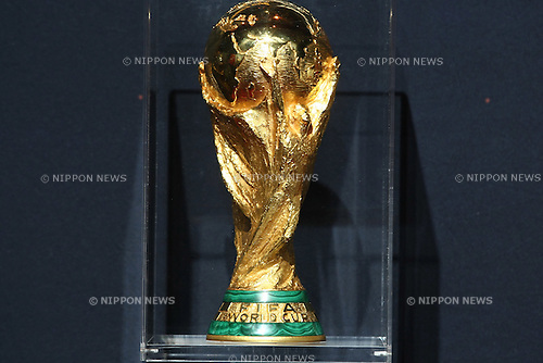 Apr 25, 2010 - Tokyo, Japan - The World Cup trophy is displayed during a one-day special event at Laforet Harajuku in Tokyo, on April 25, 2010. The trophy arrived in Japan on April 23, as part of its 225-day global tour in the lead-up to the finals of the FIFA World Cup football tournament in South Africa.