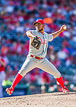 7 September 2014: Philadelphia Phillies pitcher Antonio Bastardo on the mound against the Washington Nationals at Nationals Park in Washington, DC. The Phillies fell to the Nationals 3-2 in their final meeting of the season. Mandatory Credit: Ed Wolfstein Photo *** RAW (NEF) Image File Available ***