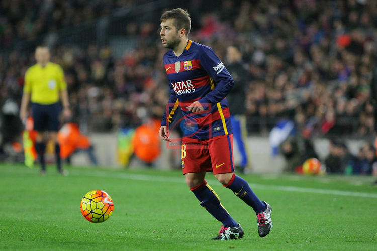 League BBVA 2015/2016 -Game: 20.<br /> FC Barcelona vs Athletic Club: 6-0.<br /> Jordi Alba.
