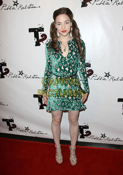 BRITTANY CURRAN.2009 Teen Choice Awards Pre-Party Held at Level 3, Hollywood, California, USA..August 5th, 2009.full length green beige pattern dress .CAP/ADM/KB.©Kevan Brooks/AdMedia/Capital Pictures.