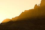 Sunset falls on the Vermillion Cliffs in Vermillion Cliffs National Monument, Arizona.