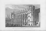 The New Hall, Christ's Hospital, engraving from 'Metropolitan Improvements, or London in the Nineteenth Century' London, England, UK 1828
