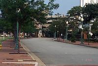 1996 July 08..Redevelopment..Macarthur Center.Downtown North (R-8)..FREEMASON GARAGE DEMO.LOOKING WEST ON FREEMASON FROM CUMBERLAND STREET...NEG#.NRHA#..