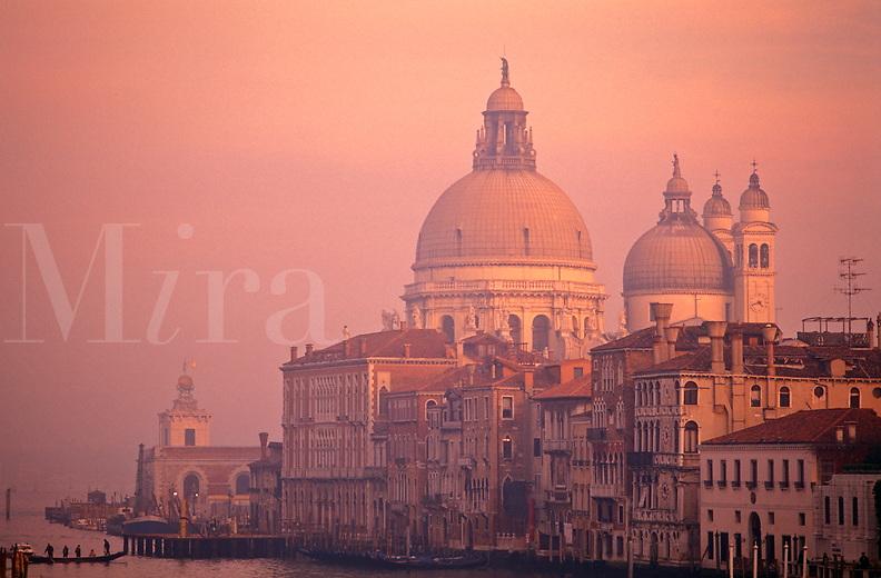 Italy,Venice. The Grand Canal and Santa Maria della Salute