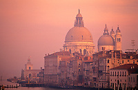 Italy,Venice. The Grand Canal and Santa Maria della Salute