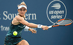 August  15, 2018:  Lesia Tsurenko (UKR) defeated Garbine Muguruza (ESP) 2-6, 6-4 6-4, at the Western & Southern Open being played at Lindner Family Tennis Center in Mason, Ohio. ©Leslie Billman/Tennisclix/CSM