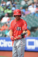 Williamsport Crosscutters infielder Jan Hernandez (11) during game against the Brooklyn Cyclones at MCU Park on July 21, 2014 in Brooklyn, NY.  Brooklyn defeated Williamsport  5-2.  (Tomasso DeRosa/Four Seam Images)
