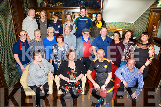 Tralee Triathlon Club celebrate the home coming of Vicky McCarthy who was awarded the Spirit of Triathlon 2017 at Gallys Bar on Sunday