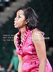 North Texas Mean Green Head Coach Shanice Stephens expresses some concern over an officials call during the NCAA Women's basketball game between the University of Louisiana at Monroe Warhawks and the University of North Texas Mean Green at the North Texas Coliseum,the Super Pit, in Denton, Texas. ULM defeated UNT 50 to 47.