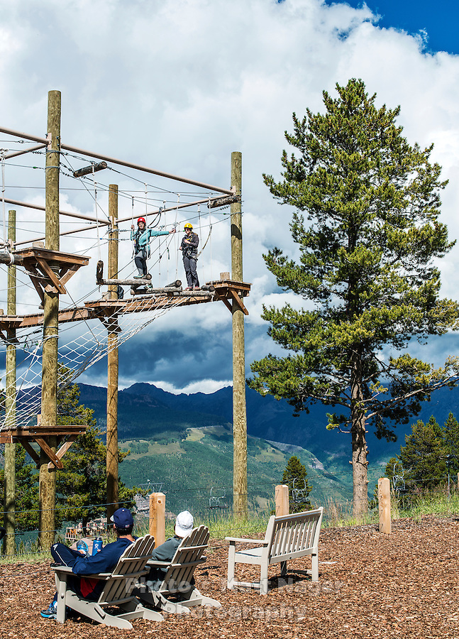 The new Epic Discovery adventure park in Vail, Colorado, Friday, September 2, 2016. Vail has turned into a growth stock with innovative marketing, pumping money into acquisitions, off-piste attractions, and the hugely popular Epic Pass, which for $800 buys all-season access to every Vail resort and a couple more in Europe. Purists may whine but the stock's more than doubled in the past couple of years to a $5 billion market cap.<br /> <br /> Photo by Matt Nager