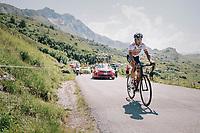 Spanish champion Gorka Izagirre (ESP/Bahrain-Merida) up the Comet de Roselend<br /> <br /> Stage 11: Albertville > La Rosière / Espace San Bernardo (108km)<br /> <br /> 105th Tour de France 2018<br /> ©kramon