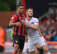 Bournemouth's Joshua King (left) vies for possession with Sheffield United's Jack O'Connell (right)  <br /> <br /> Photographer David Horton/CameraSport<br /> <br /> The Premier League - Bournemouth v Sheffield United - Saturday 10th August 2019 - Vitality Stadium - Bournemouth<br /> <br /> World Copyright © 2019 CameraSport. All rights reserved. 43 Linden Ave. Countesthorpe. Leicester. England. LE8 5PG - Tel: +44 (0) 116 277 4147 - admin@camerasport.com - www.camerasport.com
