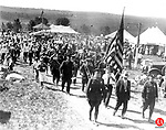 the start of a parade at the Terryville Fair, 1930s.