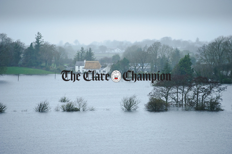A view of flooding looking from Castledaly towards Bullaunagh in the Peterswell area of South Galway. Photograph by John Kelly.