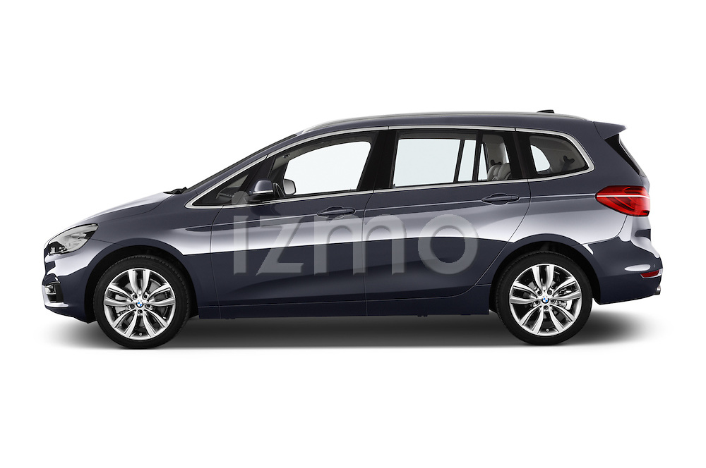 Car Driver side profile view of a 2015 BMW 2 Series Gran Tourer Luxury 5 Door Mini Mpv Side View