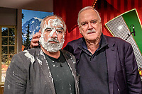 "John Cleese visits Austrian tv Talk Show  ""Welcome Austria with Stermann & Grissemann"" 10/08/19 Vienna, Austria. Credit: Action press/MediaPunch ***FOR USA ONLY***"