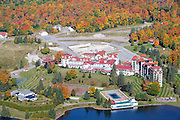 The Balsams Grand Resort in Dixville, New Hampshire USA from Table Rock during the autumn months.