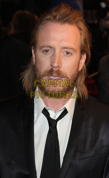 RHYS IFANS.World Premiere of 'Nanny McPhee and the Big Bang' at the Odeon West End, Leicester Square, London, England..March 24th 2010.headshot portrait black white beard facial hair.CAP/ROS.©Steve Ross/Capital Pictures.