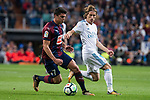 Real Madrid Luka Modric and Eibar Ander Capa during La Liga match between Real Madrid and Eibar at Santiago Bernabeu Stadium in Madrid, Spain. October 22, 2017. (ALTERPHOTOS/Borja B.Hojas)