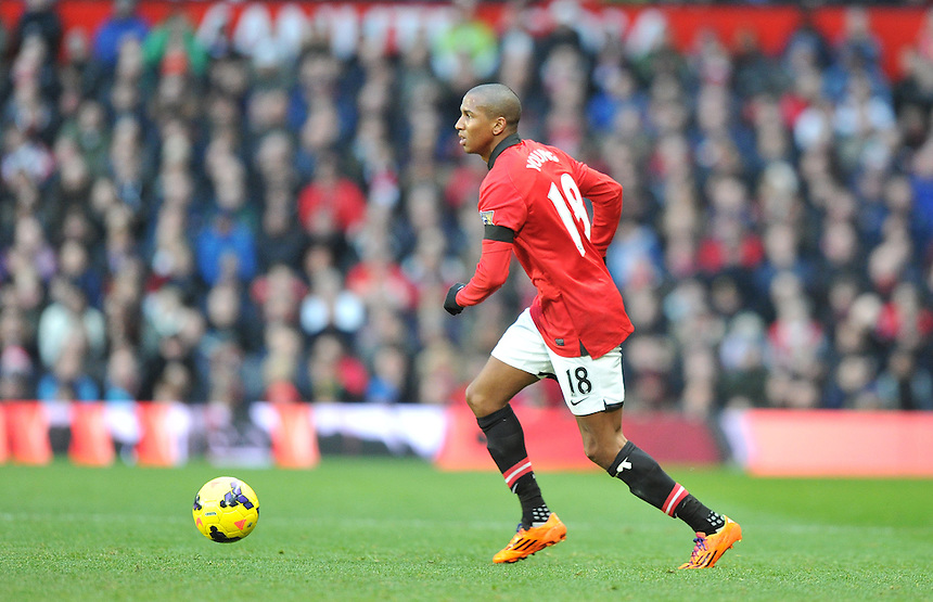 Manchester United's Ashley Young<br /> <br /> Photo by Dave Howarth/CameraSport<br /> <br /> Football - Barclays Premiership - Manchester United v Fulham - Sunday 9th February 2014 - Old Trafford - Manchester<br /> <br /> &copy; CameraSport - 43 Linden Ave. Countesthorpe. Leicester. England. LE8 5PG - Tel: +44 (0) 116 277 4147 - admin@camerasport.com - www.camerasport.com