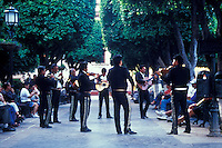 Mariachis playing in the Jardin, San Miguel de Allende, Mexico