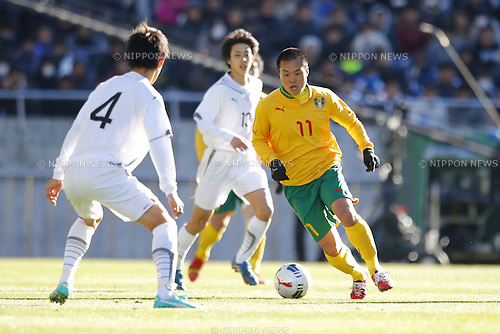 Taiki Moriyama (Seiryo), JANUARY 12, 2015 - Football / Soccer : 93rd All Japan High School Soccer Tournament final match between Maebashi Ikuei 2-4 Seiryo at Sitama Stadium 2002, Saitama, Japan. (Photo by Yusuke Nakanishi/AFLO SPORT) [1090]