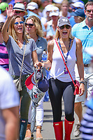 Avid golf fans approach the 8th tee during Saturday's round 3 of the PGA Championship at the Quail Hollow Club in Charlotte, North Carolina. 8/12/2017.<br /> Picture: Golffile | Ken Murray<br /> <br /> <br /> All photo usage must carry mandatory copyright credit (&copy; Golffile | Ken Murray)