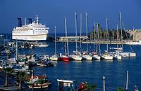 Griechenland, Dodekanes, Kos: Faehre im Hafen von Kos-Stadt | Greece, Dodekanes, Kos, Kos-City: ferry at harbour