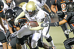Beverly Hills, CA 09/23/11 - Okuoma Idah (Peninsula #24) in action during the Peninsula-Beverly Hills Varsity football game.