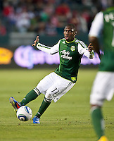 CARSON, CA – June 3, 2011: Portland Timbers midfielder Kalif Alhassan (11) during the match between Chivas USA and Portland Timbers at the Home Depot Center in Carson, California. Final score Chivas USA 1, Portland Timbers 0.