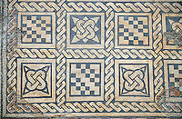 4th century Roman geometric moisaic from Merida, Merida Archaeological Museum, Spain