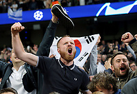 Tottenham Hotspur fans celebrate wildly at the final whistle<br /> <br /> Photographer Rich Linley/CameraSport<br /> <br /> UEFA Champions League - Quarter-finals 2nd Leg - Manchester City v Tottenham Hotspur - Wednesday April 17th 2019 - The Etihad - Manchester<br />  <br /> World Copyright © 2018 CameraSport. All rights reserved. 43 Linden Ave. Countesthorpe. Leicester. England. LE8 5PG - Tel: +44 (0) 116 277 4147 - admin@camerasport.com - www.camerasport.com
