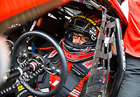 Jul 23, 2017; Morrison, CO, USA; NHRA pro stock driver Erica Enders-Stevens during the Mile High Nationals at Bandimere Speedway. Mandatory Credit: Mark J. Rebilas-USA TODAY Sports