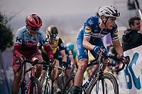eventual winner Niki Terpstra (NED/Quick-Step Floors) in the first ascent up the Paterberg<br /> <br /> 102nd Ronde van Vlaanderen 2018 (1.UWT)<br /> Antwerpen - Oudenaarde (BEL): 265km