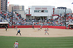 MADISON, WI - APRIL 15: The Wisconsin Badgers hosted a double-header against the Purdue Boilermakers at the Goodman Diamond softball field on April 15, 2007 in Madison, Wisconsin. (Photo by David Stluka)