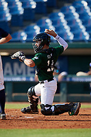 Jaime Ferrer (18) of TNXL Academy in Saint Cloud, FL during the Perfect Game National Showcase at Hoover Metropolitan Stadium on June 20, 2020 in Hoover, Alabama. (Mike Janes/Four Seam Images)