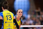 11.05.2019, Scharrena, Stuttgart<br />Volleyball, Bundesliga Frauen, Play-offs Finale, 5. Spiel, Allianz MTV Stuttgart vs. SSC Palmberg Schwerin<br /><br />Mckenzie Adams (#13 Schwerin), Denise Hanke (#10 Schwerin) enttŠuscht / enttaeuscht / traurig <br /><br />  Foto © nordphoto / Kurth